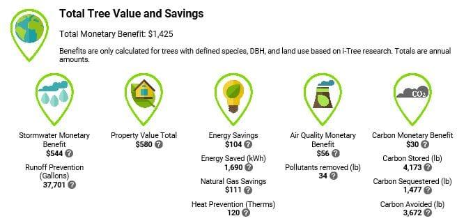 eco benefits of tulsa urban forest